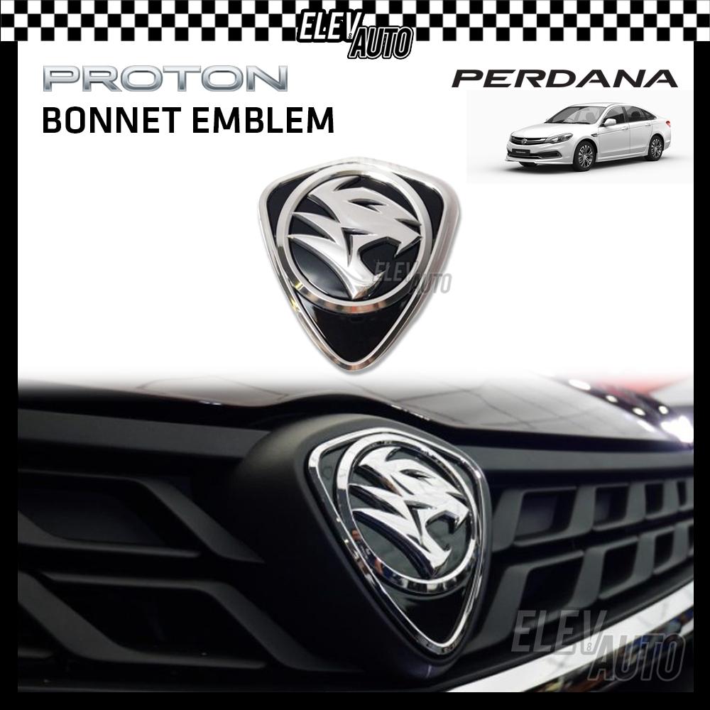 PROTON New Design Chrome Logo Emblem Front & Rear Perdana 16-21