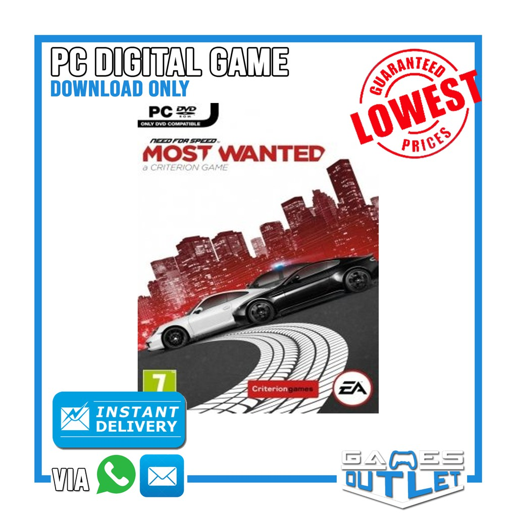 PC Need For Speed: Most Wanted (2012) 100% Original