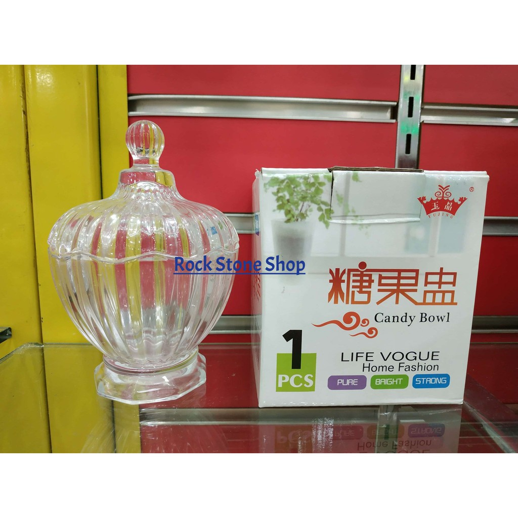 Premium Glass Jar Candy Bowl Mini Bottle Storage Container For Sweet Decoration | Bekas Balang Kaca Gula | 精美玻璃糖果盅