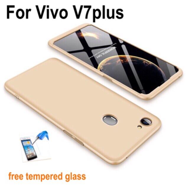 VIVO V7/ V7 Plus Case 【360° Full Cover Protect】FREE TEMPERED GLASS | Shopee Malaysia