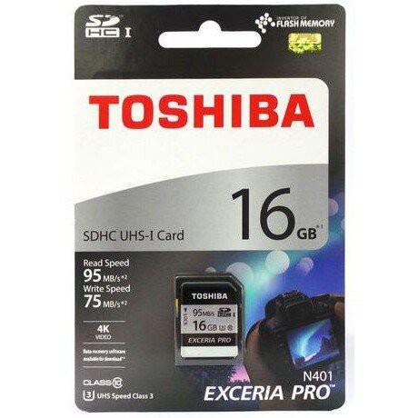 Toshiba EXCERIA PRO - N401 16GB SDHC UHS-I Class 3 memory card