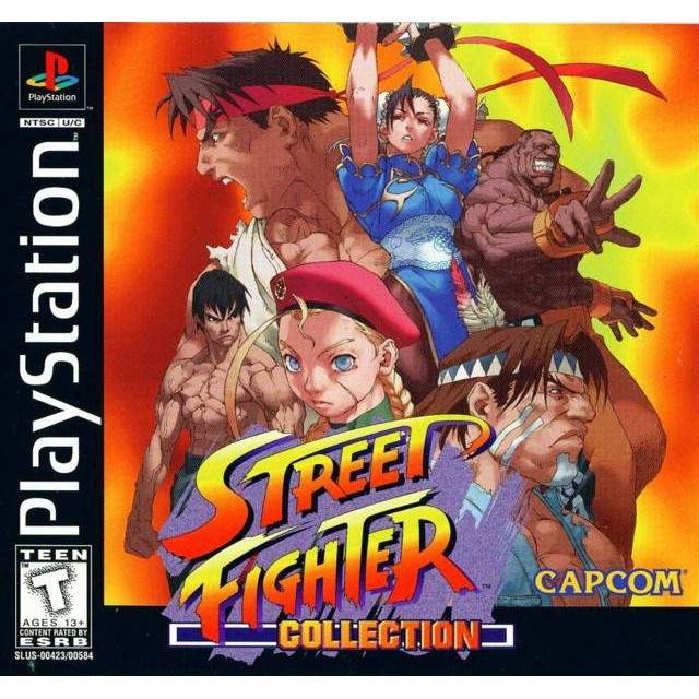 PS1 Game Street Fighter Collection 1, Fighting Multi 3 in 1 Game, English version / PlayStation 1