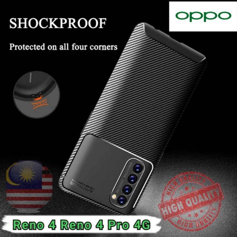 For Oppo Reno4 Pro Case Cover Soft Silicone TPU Back Cover Reno 4 Pro Anti-knock Bumper Matte Phone Case (Ready Stock)