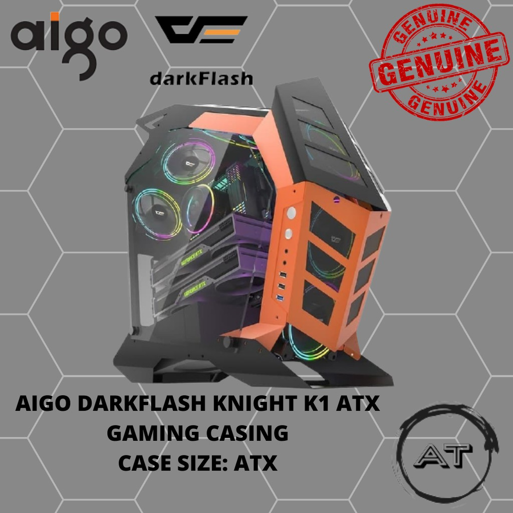 Aigo DarkFlash Knight K1 ATX Casing Only