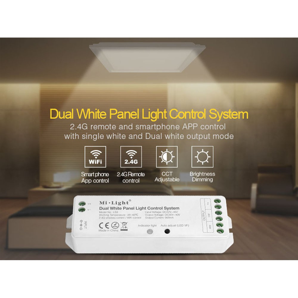 MiLight LS3 Dual White Panel Light Control 2 4GHz Wireless WiFi Controller