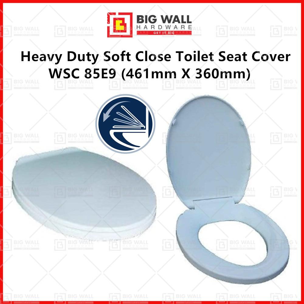 Heavy Duty Soft Close Toilet Seat Cover WSC 85E9 461mm X 360mm Big Wall Hardware