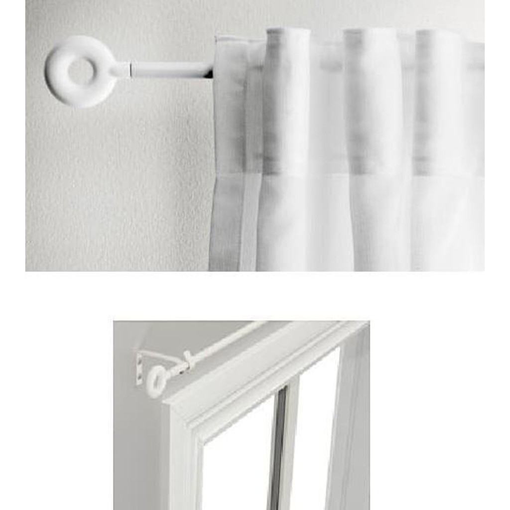 Ready Stock Ikea Irja Curtain Rod Set