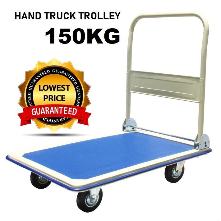 CROCO TRUCK High Quality Iron 150kg 300kg Foldable Platform Hand Truck Trolley Kereta Tolak Besi Bull