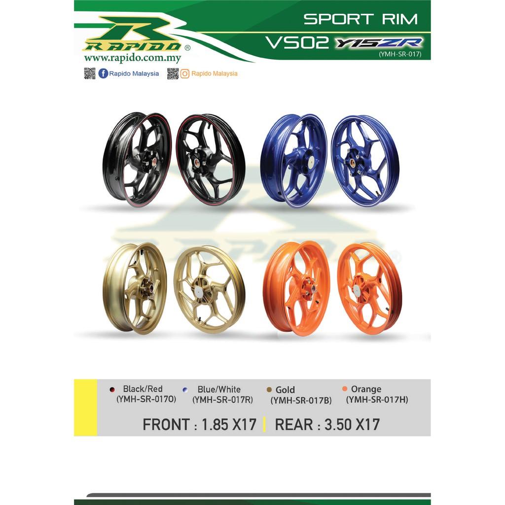 Rapido Yamaha Y15ZR Sport Rim Model VS02 (Bearing Set Included)