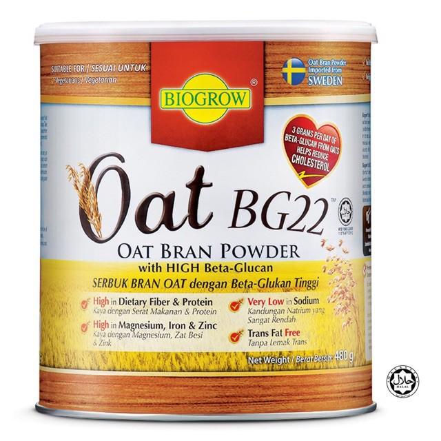 Biogrow Oat BG22 with High Fibre Beta-Glucan Cholesterol Lowering 480gm  Halal