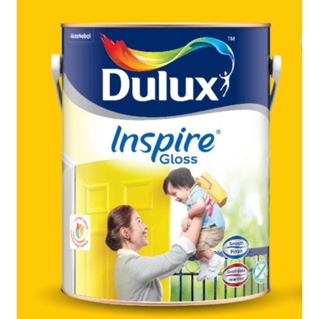 [100 %ORIGINAL] 1LT ICI Dulux Inspire Gloss Paint for Wood & Metal (Cat Minyak Kayu & Besi)