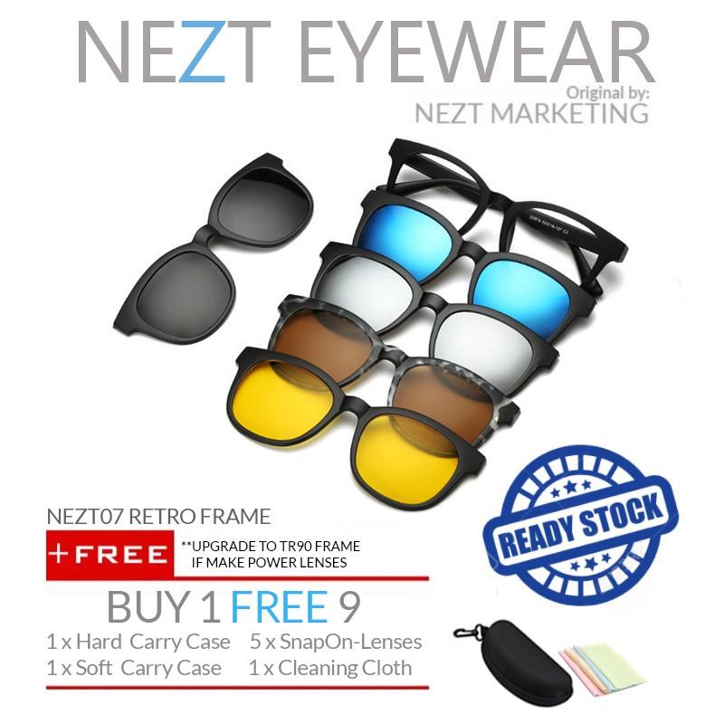 c65a705ced 6 in 1 Retro Frame Nezt05 Magnetic Snap-On Glasses FREE 5 lenses ...