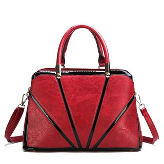 4569348cf23 Women Shoulder Bag Zipper Cross Body Tote Bags PU Leather | Shopee ...