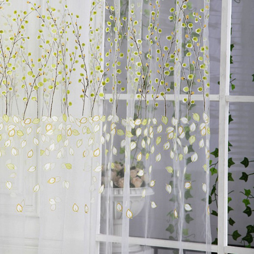 Curtains Blackout Tulle Floor Curtain Plum Blossom Wintersweet Curtains