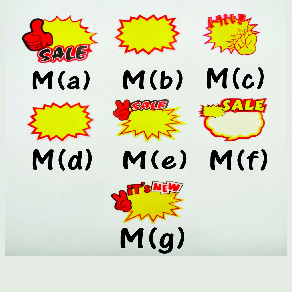 [READY STOCK] POP Price Tag Label 13x9cm for Discount