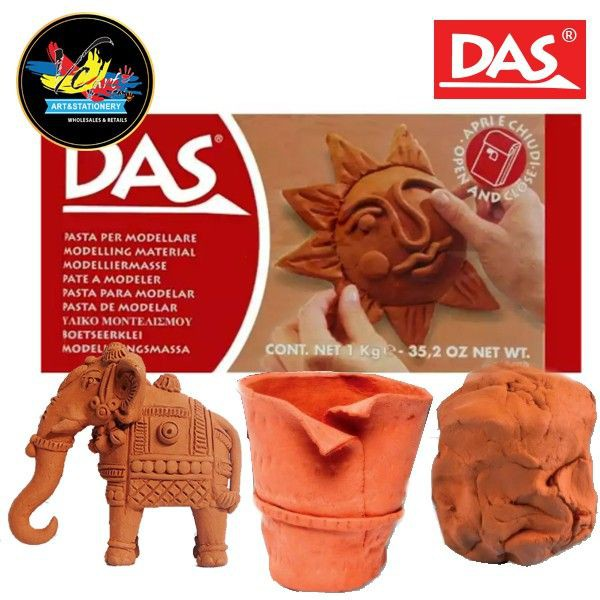 DAS Air Drying Modelling Clay Terracotta 1kg