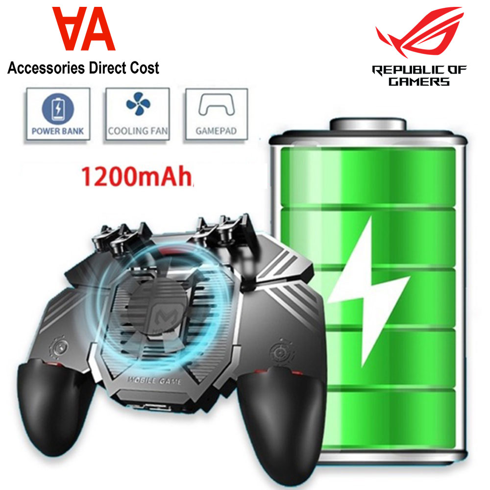 AK77 Cooling Fan Mobile Phone Gaming Gamepad Controller For PUBG L1R1 Shooter Games Handle