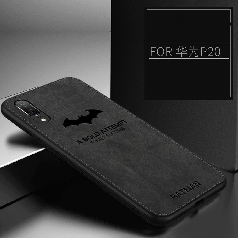 e5ce7d3a812a7d Huawei Honor Play Batman Case Cloth Leather Soft Silicone Thin Back Cover  Casing