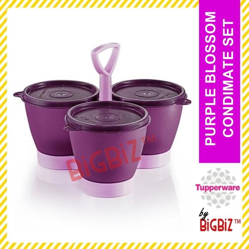 TUPPERWARE Purple Blossom Condimate Set / Bekas Kuih Raya Mini Set [READY STOCK]