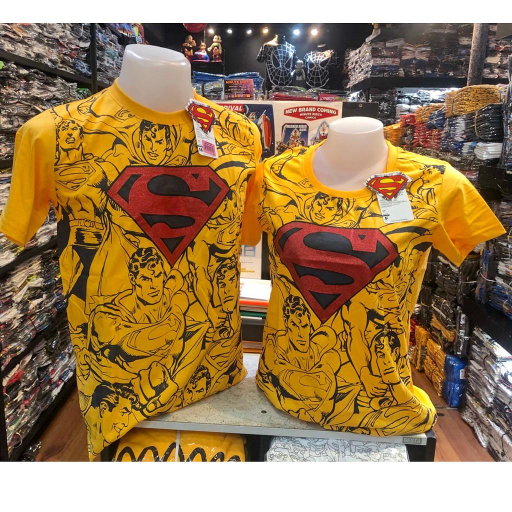 เสื้อยืด ซุปเปอร์แมน Superman ลิขสิทธิ์แท้ (สีเห