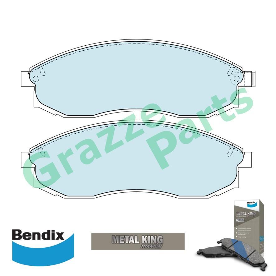 Bendix Metal King Titanium Brake Pad Front DB1308 - Mitsubishi Storm L200 2001