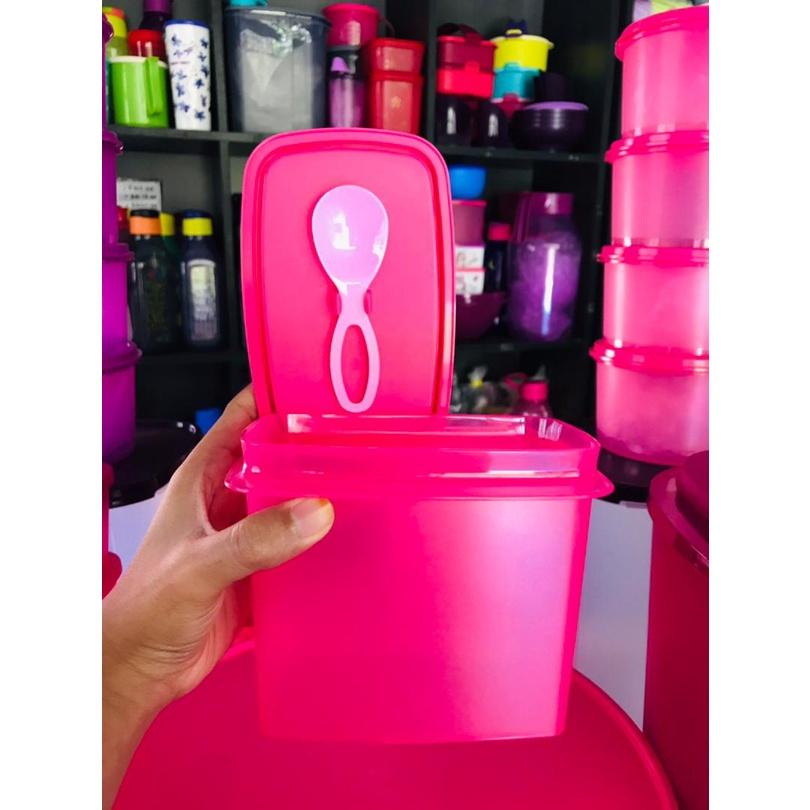 🔥SALE🔥[READYSTOK]Tupperware Shelf Saver with Spoon 840ml (1) / (4) / (8) AND FREE STICKER UTK ORDER (8PCS)-PURPLE/PINK