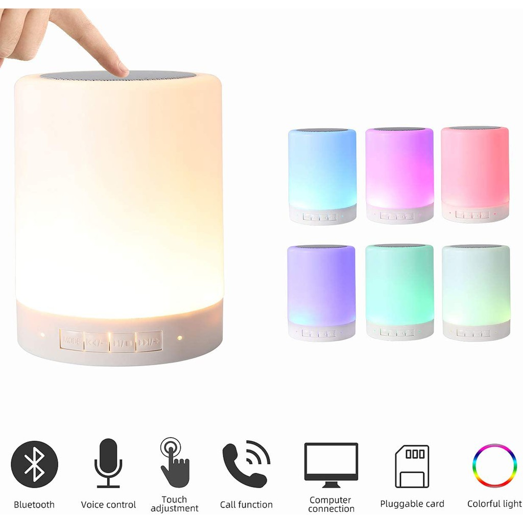 Bluetooth Speaker Night Lights Portable Wireless Bluetooth Speakers Touch Discoloration Light Outdoor Speakers Bluetooth Best Gifts For Girl Boy Baby Shopee Malaysia