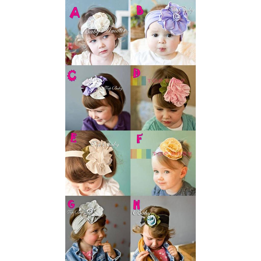 Baby & toddler flower headband for ages 0- 24 months.