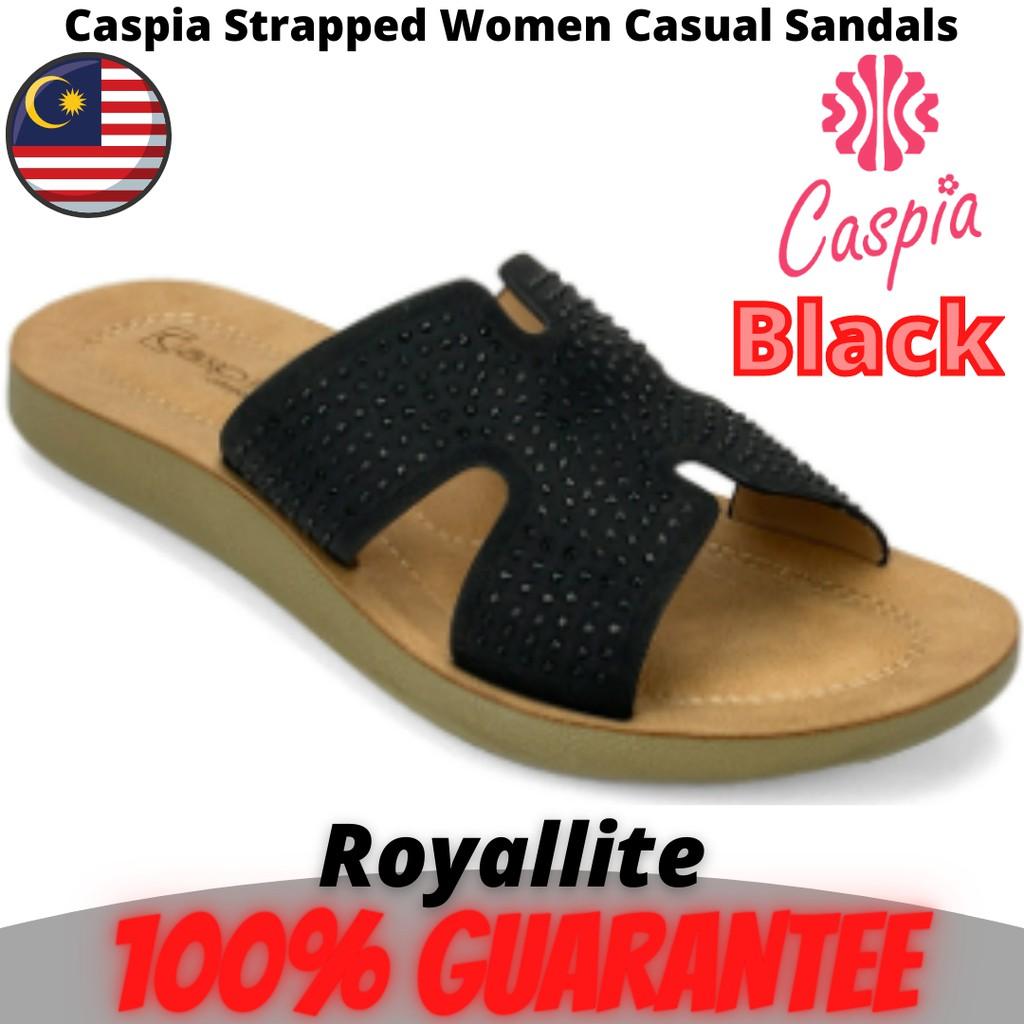 CASPIA Ladies Comfort Casual Sandals(CW-15) Black & Brown