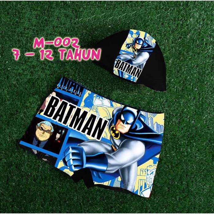 READY STOCK BM] SELUAR BERENANG KANAK-KANAK BATMAN Kids Disney Swimsuit (10T - 12T)