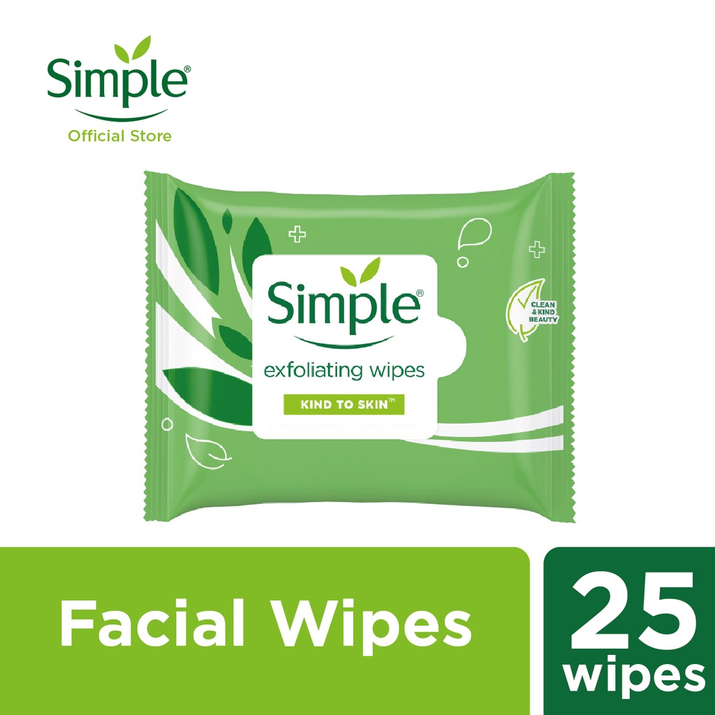 Simple Exfoliating Facial Wipes (25's)