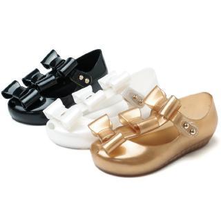 eccf854593 Mini Three Pcs Bow Girl Jelly Sandals Children Shoe Non-slip Girls ...