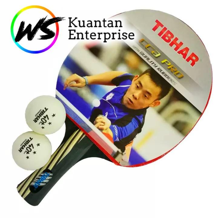 【100% Original】Tibhar Table Tennis/Ping Pong Bat Set  (2pcs Bats + Free 3pcs Balls)