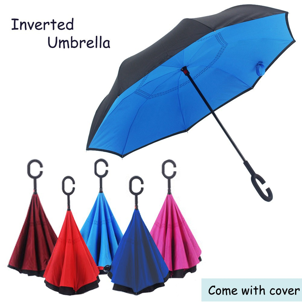 bf175b54a0760 24k Color Rainbow Long Handle Straight Sun/Rain Stick Umbrella Parasol |  Shopee Malaysia