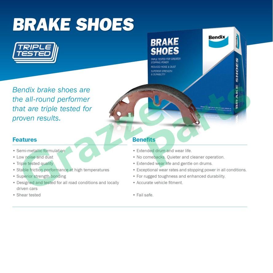 Bendix Brake Shoe Rear for D1201 - Nissan YU41