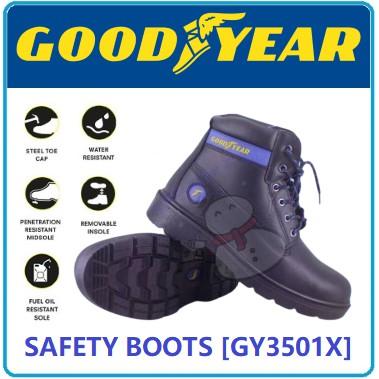 SAFETY BOOTS STEEL TOE GOODYEAR WING VERSA X GY3501X SAFETY SHOE SAFETY BOOTS KASUT KESELAMATAN BUT KESELAMATAN GY016
