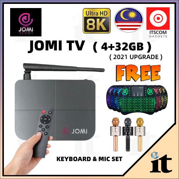 JOMI TV ANDROID TVBOX 8K 4GB RAM + 32GB ROM ( FREE FOR LIFE/KARAOKE/LIVE/VOD/GAMES )