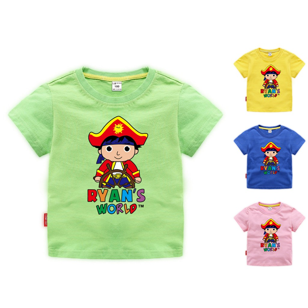 Ryan Toys Review Kids Boys Girls Summer T-Shirt 100/% Cotton Short Sleeve Tee Top