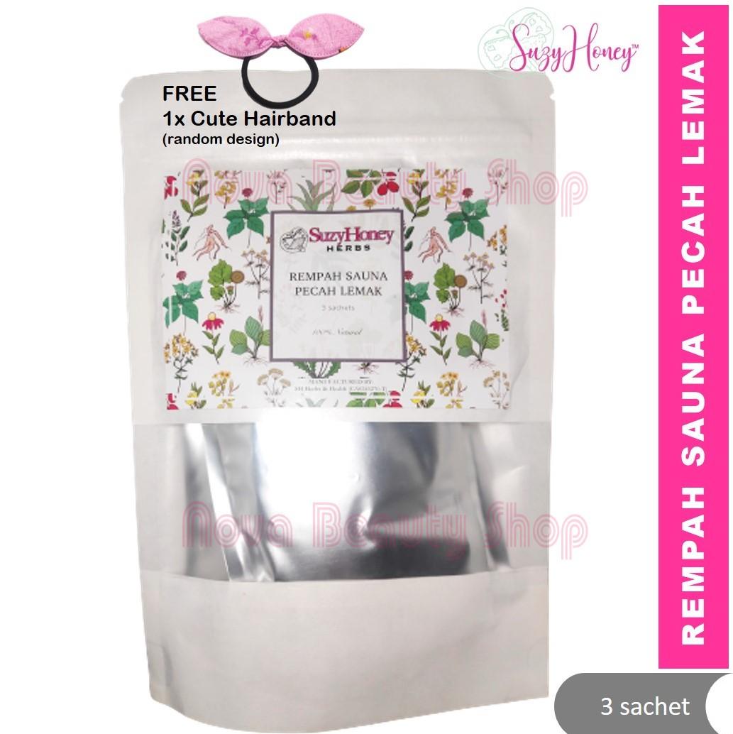 Suzyhoney Rempah Sauna Pecah Lemak (3 sachets) Badan ringan pecah peluh tingkat metabolime haluskan kulit