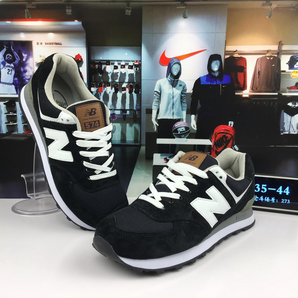 new balance 574 nb574 black white running sport shoe for men women36 44 ori 2019