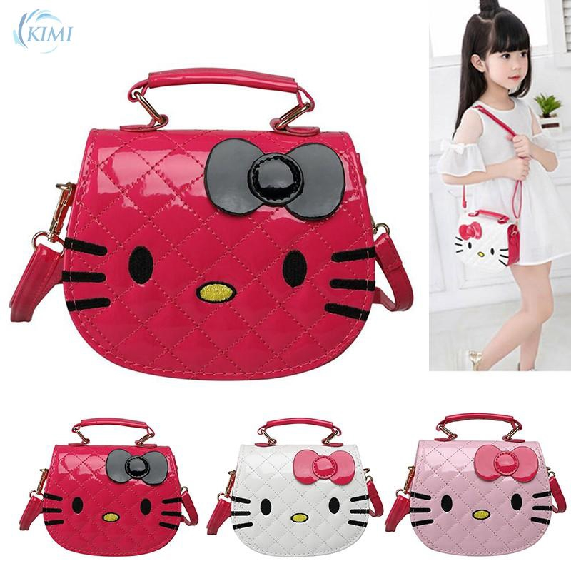1bfa9fccd Al Sahhia Kawaii Cute Pretty Bow Hello KT PU Handbag Kid Girls Bag Sling  Beg | Shopee Malaysia