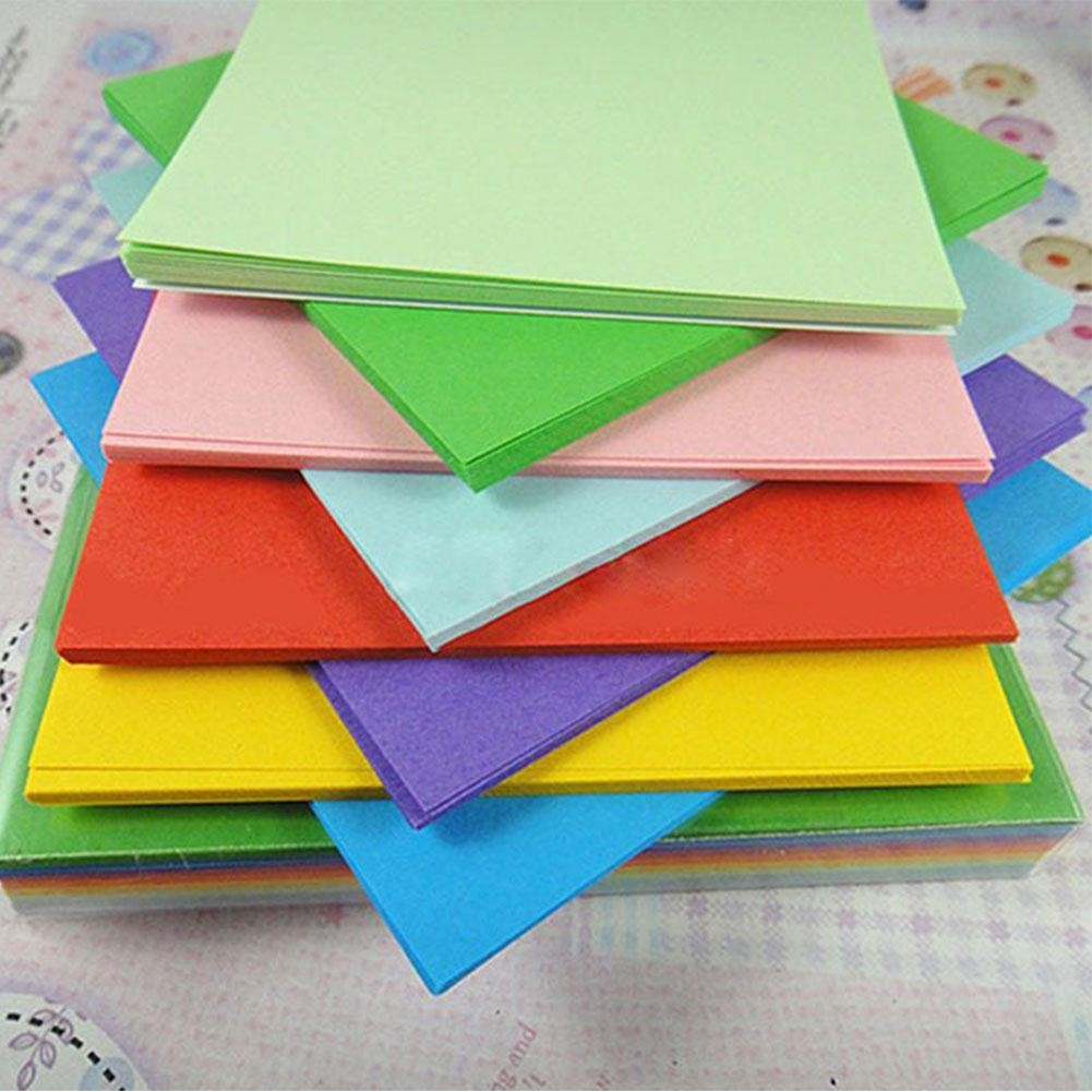100Pc Origami Square Hand Paper Double Sided Craft Scrapbooking New 8CM