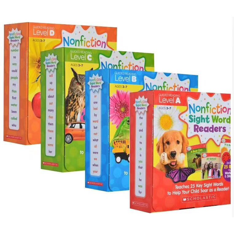 Nonfiction Sight Word Readers Pack Levels A-D (100books*CD)