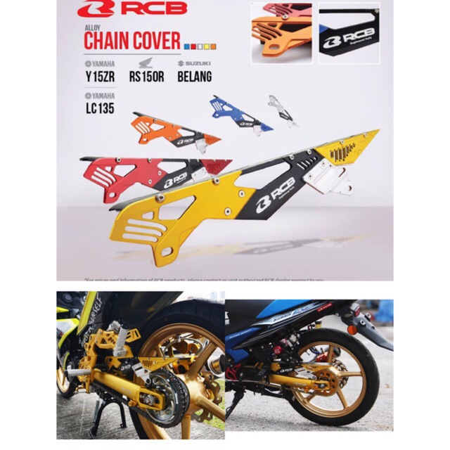 100% ORI Racing Boy Original lc135 Y15ZR Alloy Chain cover