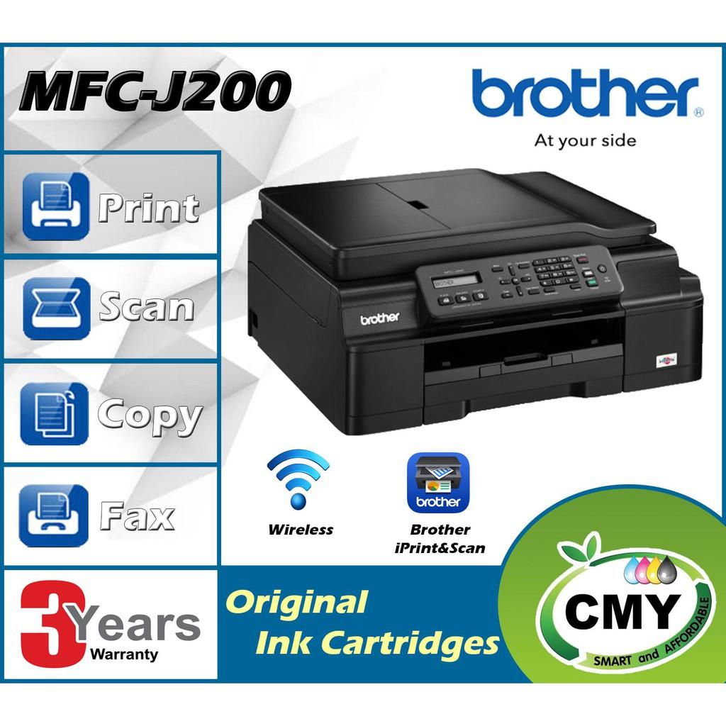 Brother MFC-J200 InkBenefit Wifi Fax Printer