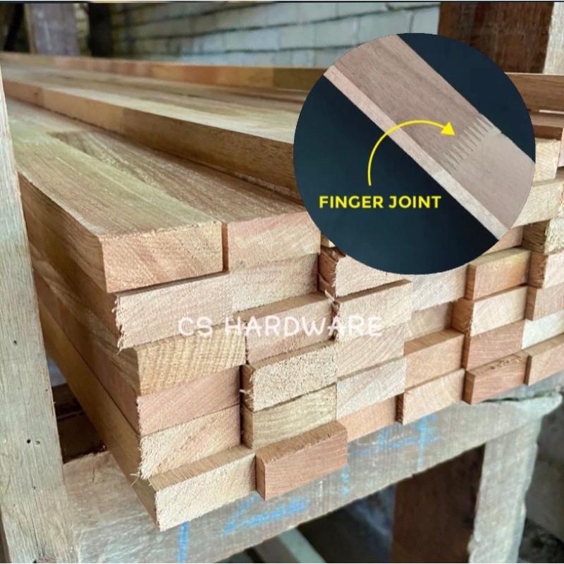 1'' x 2'' Finger Joint Wood Kayu Furniture - Siap Ketam (Licin)