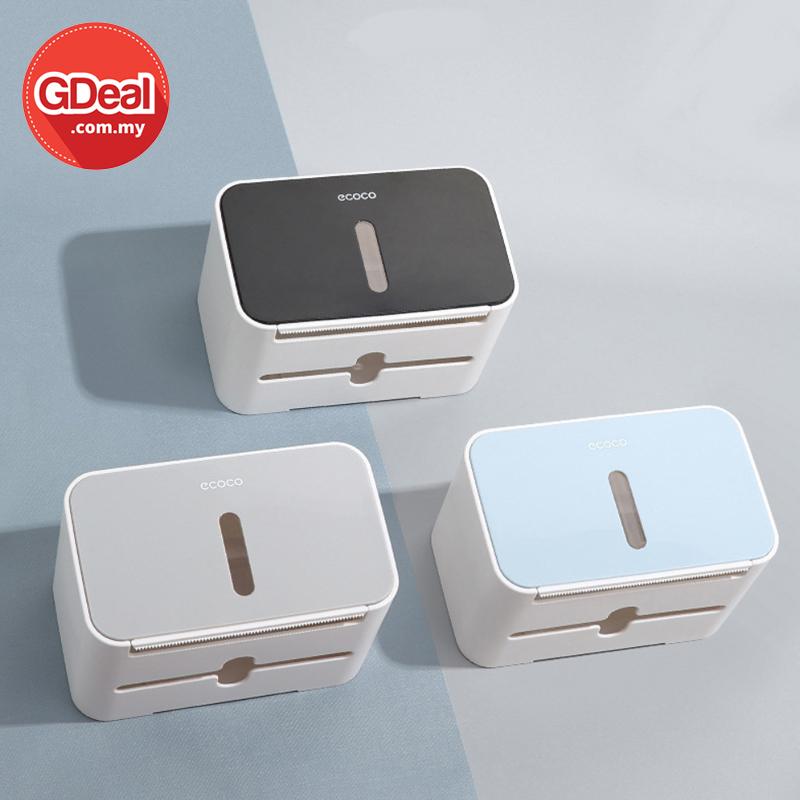 GDeal Wall Mounted Toilet Paper Storage Box Bathroom Tissue Organizer Kotak Tisu كوتق تيسو