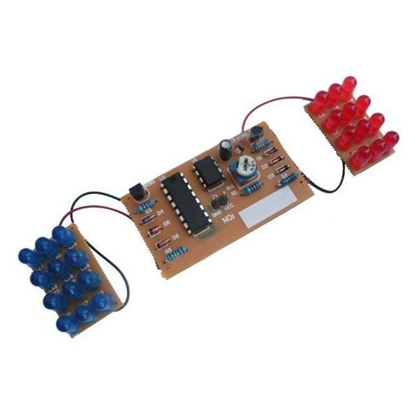 2PCS Detonation Flashing Light DIY Kit for Red Blue LED Dual-Color