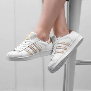 sports shoes bd061 0b6f0 Adidas superstar white rose gold