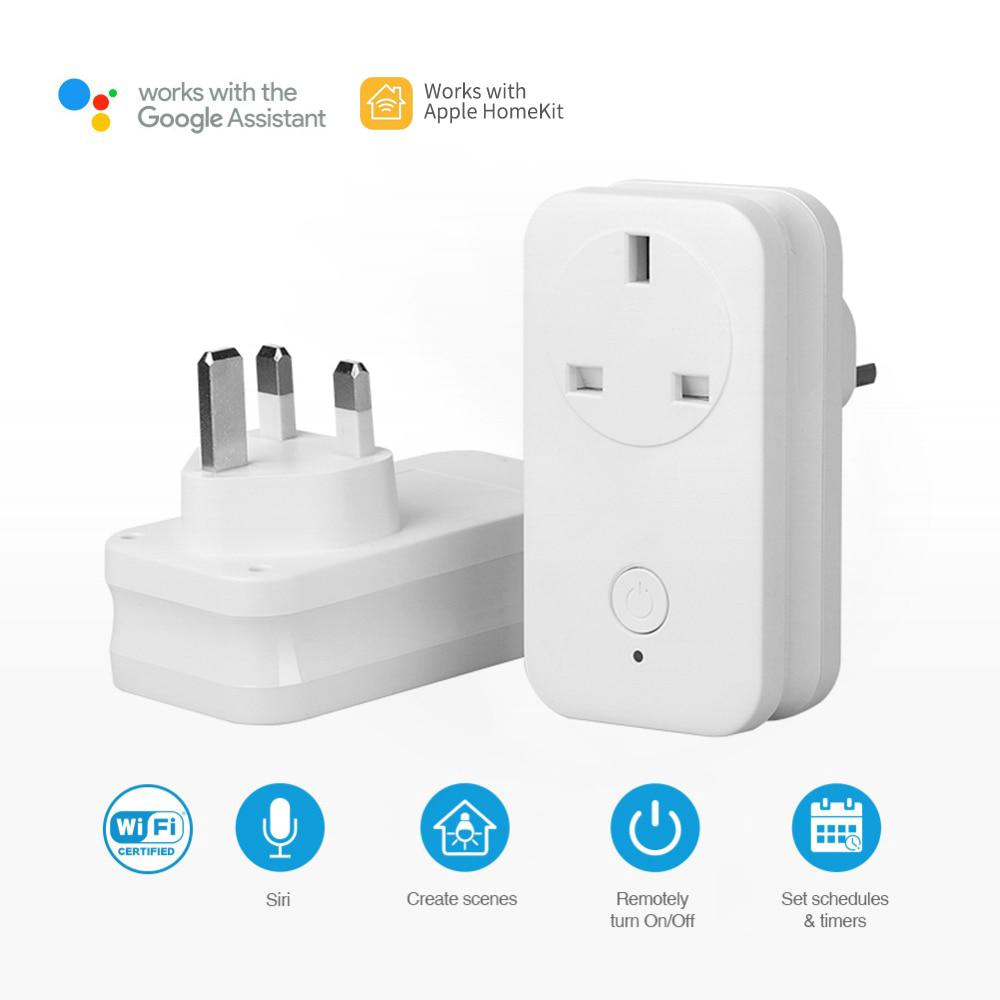 2Pcs Smart Home WiFi Plug UK Homekit Socket for Apple Homekit Alexa